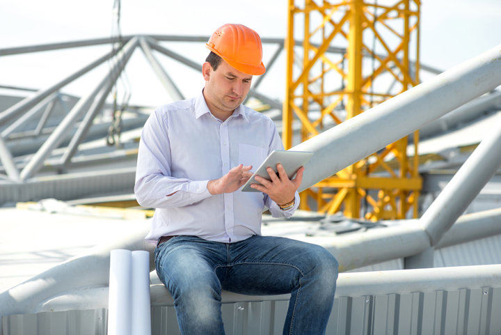 calgary it services workflow automation construction employee using ipad