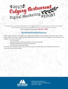 calgary restaurant digital marketing report 2017