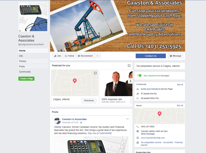 calgary social media marketing services facebook cawston associates
