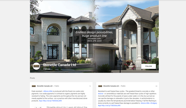 calgary social media marketing services google plus stonetile canada
