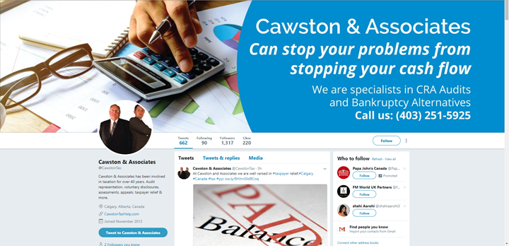 calgary social-media marketing services twitter cawston associates