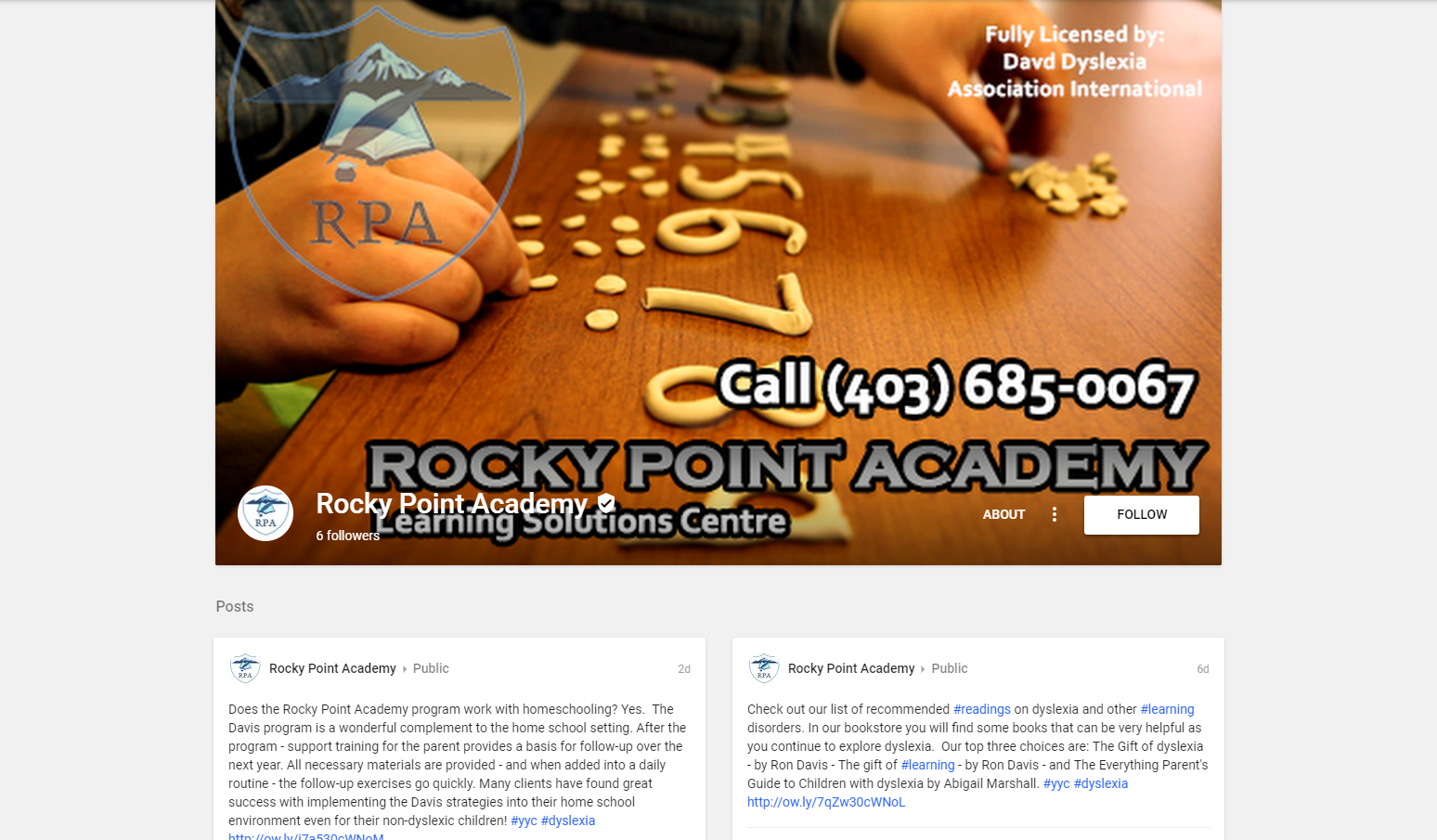calgary social media services google plus rocky point academy
