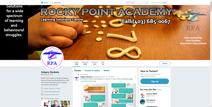 calgary social media services twitter rocky point academy