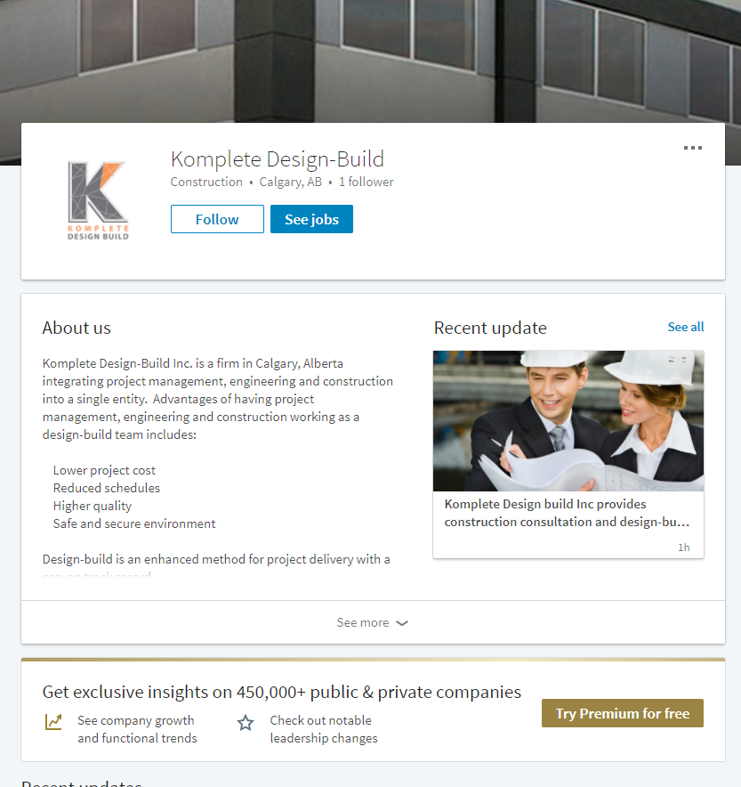 social media marketing services calgary linkedin komplete design build