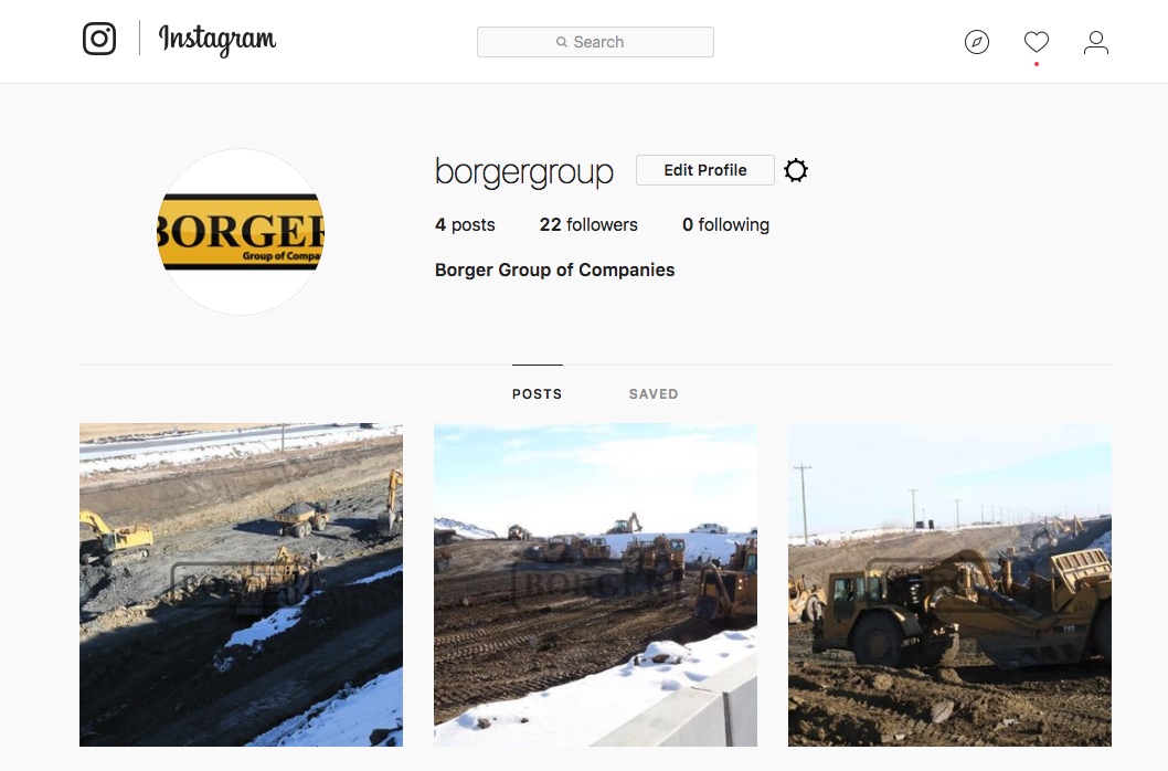 social media services borger group instagram