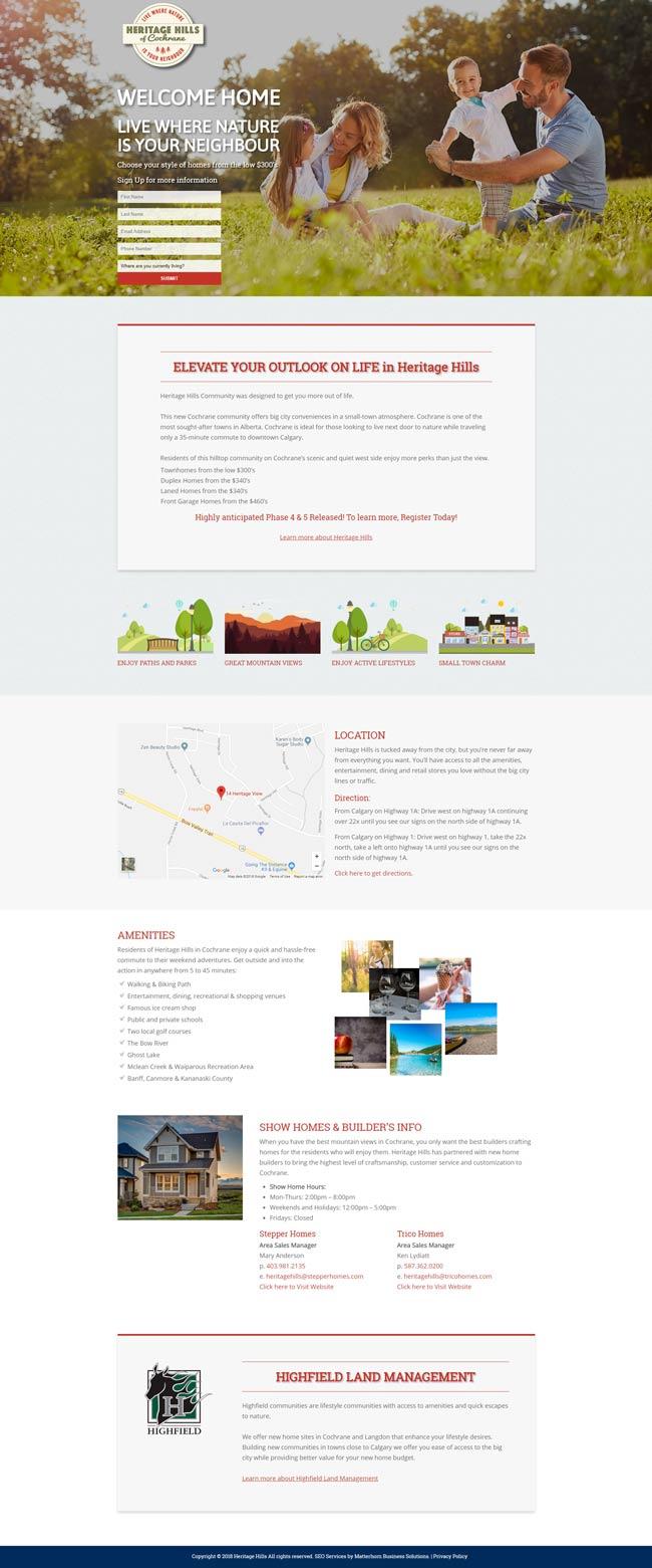 web development company calgary heritage hills