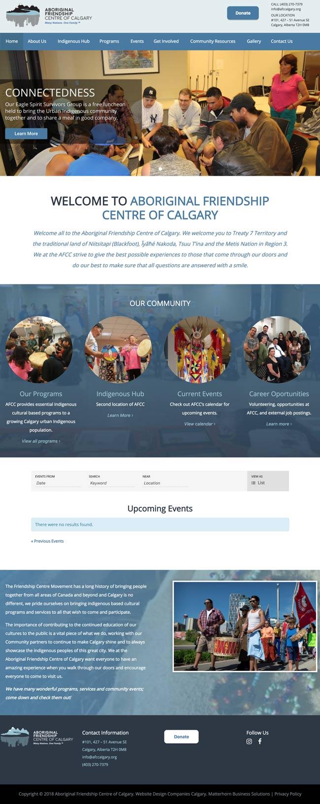 webdesign calgary services AFCC